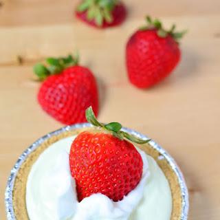 Mini Key Lime Pie With Fresh Strawberries.