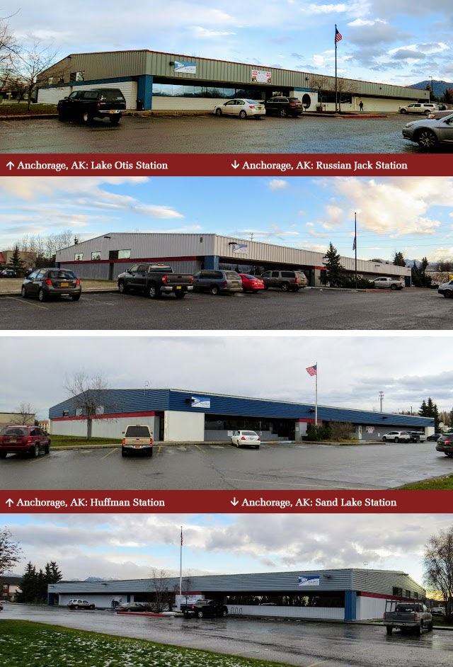 Collage of Anchorage post offices