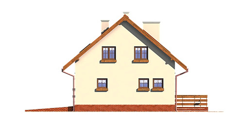Dom przy Głogowej - Elewacja tylna