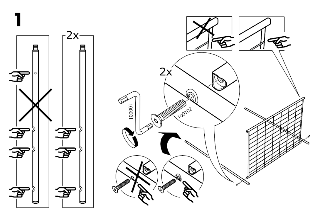 IKEA assembly iconography.