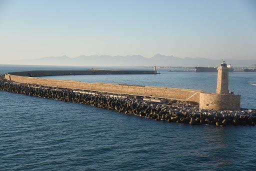 sea-wall-2.jpg - An ancient sea wall we passed as Seven Seas Explorer left Rome.