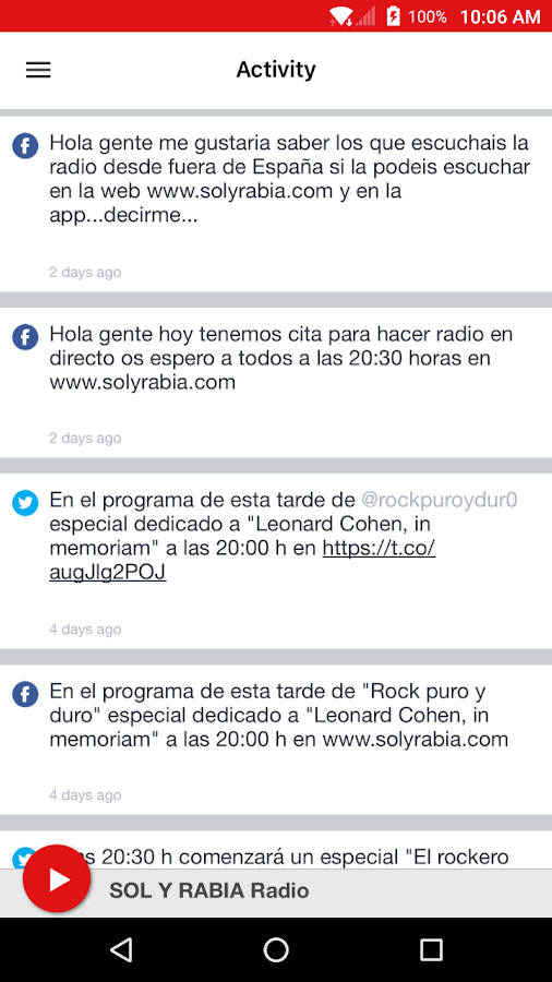 SOL Y RABIA Radio- screenshot