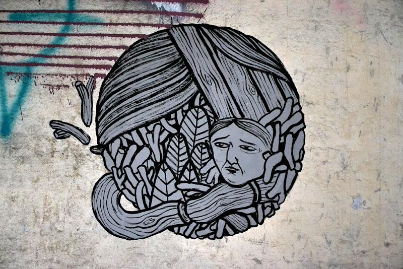 Arte muraglia di martacolo