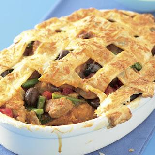 Chicken Cacciatore Pot Pie.