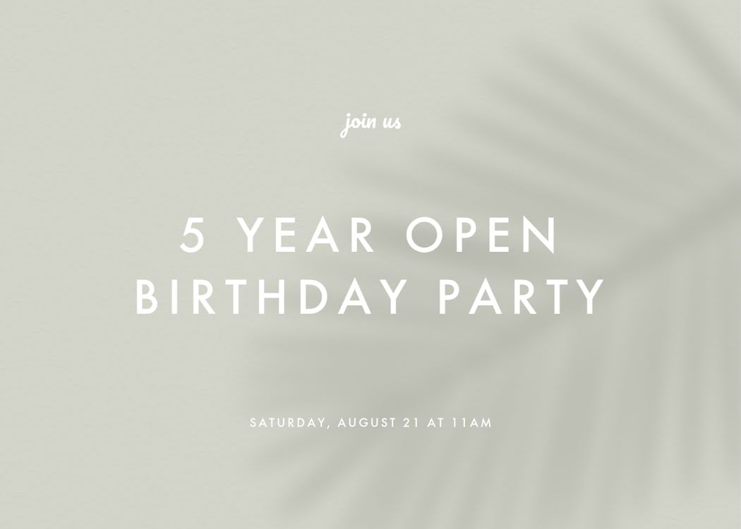 Five Year Openversary - Card Template