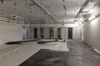 Photo: Salle 1 du datacenter - Vue générale Echangeur climatisation (Visite de chantier 2 Oct. 2014)