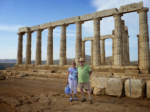 Photo: The 5th century B.C. Temple of Poseidon at Cape Sounion, a day trip from Athens.