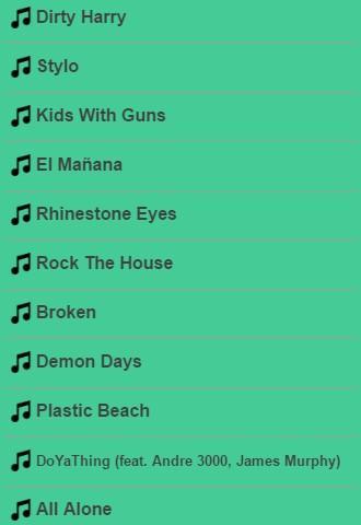 Gorillaz Lyrics Apk Download Apkpure Co