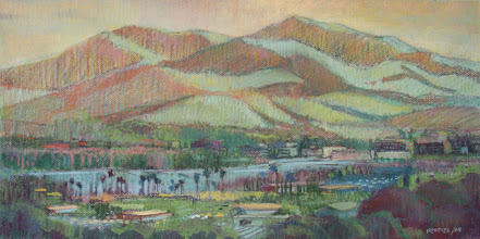Photo: Diablo Above Concord, pastel by Nancy Roberts, copyright 2014. Private collection.