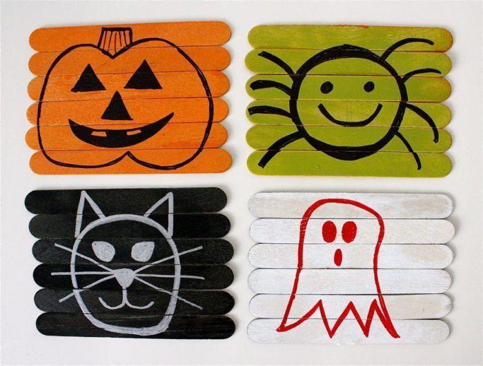 Manualidades de Halloween para niños, puzles