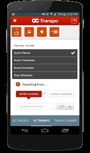 Ottawa OC Transpo Tracker screenshot 2