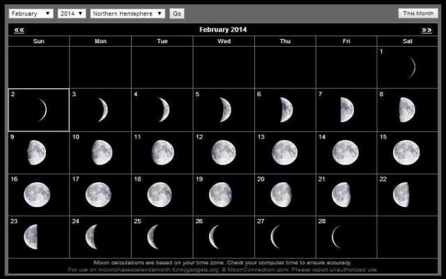 Moon Phases Calendar - Chrome Web Store