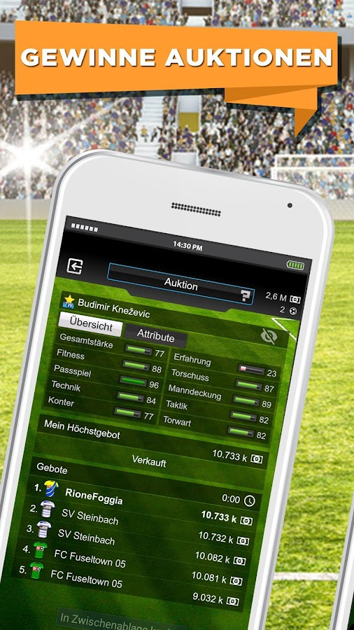 GOAL Manager – Screenshot