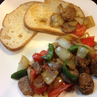 Sausage and Pepper Bruschetta – 365 calories