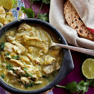 Easy Pressure Cooker Green Chile With Chicken.