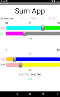 Sum App - náhled