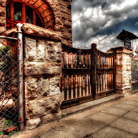 Church Entrance by Steven Butler - Buildings & Architecture Places of Worship ( hdr, church, gates )