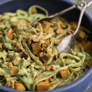 Sweet Potato Pasta with Walnut-Sage Sauce.