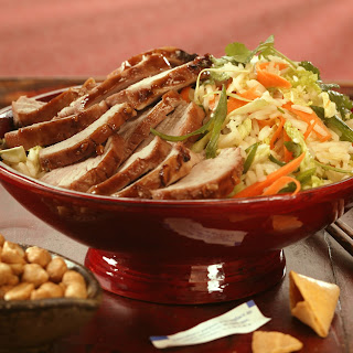 Char Shui Style BBQ Pork Tenderloin with Rice and Cabbage Salad Recipe