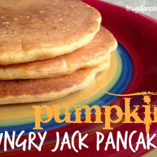 Pumpkin Hungry Jack Pancakes.