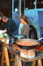 Photo: Communal cooking and dining