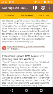 Current Wildfires Information- screenshot thumbnail