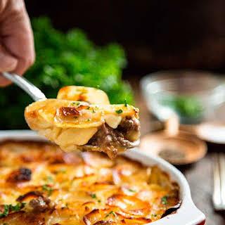 Beef Marsala and Scalloped Potato Casserole.