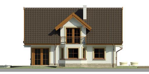 Dom przy Pomarańczowej 2 - Elewacja lewa