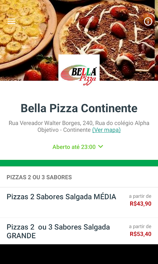 Bella Pizza Delivery- screenshot