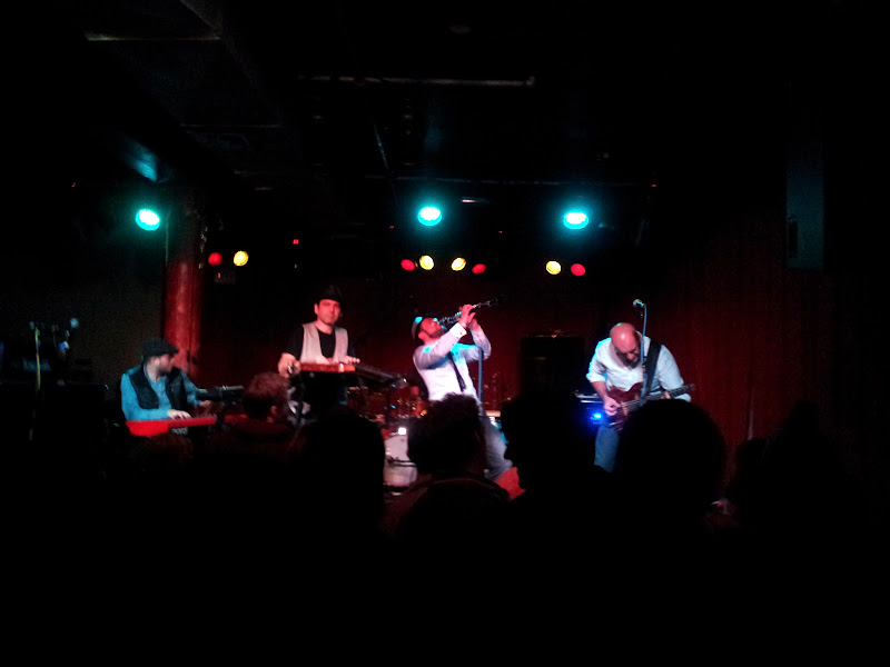 Photo: New York Gypsy All Stars - making sweet love to his clarinet @ Sullivan Hall