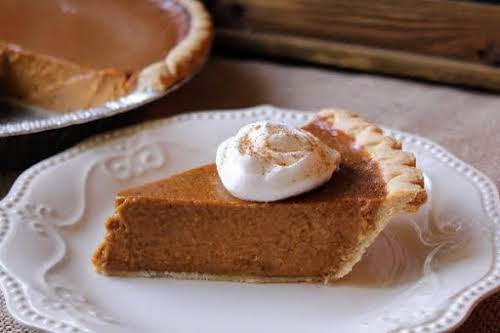 """Mom's Special Pumpkin Pie""""My mother-in-law made this pie for every holiday and..."""