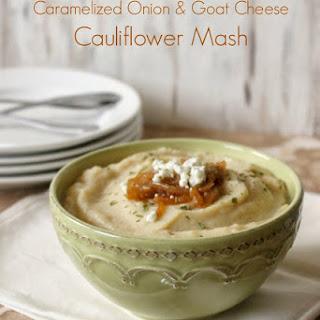 Caramelized Onion & Goat Cheese Cauliflower Mash