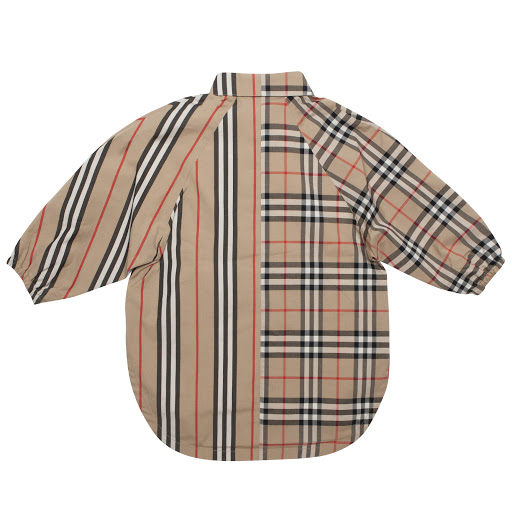 Thumbnail images of Burberry Check & Stripe Dress