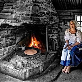 Pancakes in the old fashion way by Svein Hurum - People Portraits of Women