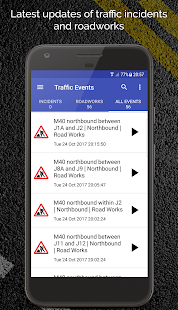 M40 Motorway Traffic News - náhled