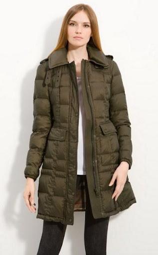 女性の冬のコート