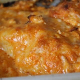 Buffalo Cream Cheese Chicken.