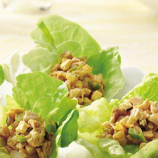 Asian Chicken Salad Lettuce Cups.