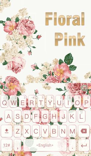 Floral Light Keyboard Theme