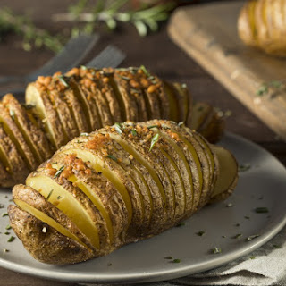 Airfryer Hassleback Potatoes Recipe