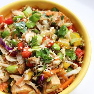 Asian Chicken Edamame Salad.