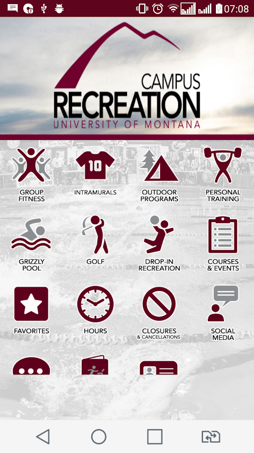 Montana Campus Recreation- screenshot