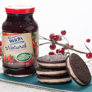 Chocolate Strawberry Sandwich Cookies