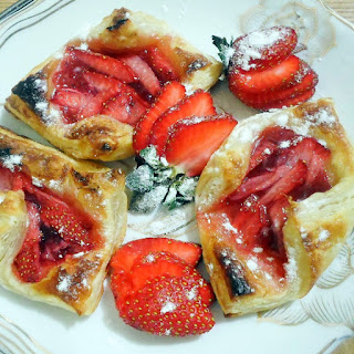 Toaster Oven Strawberry Danish