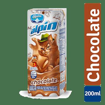 Leche ALPINA Alpin   Chocolate con Vitaminas x200Ml