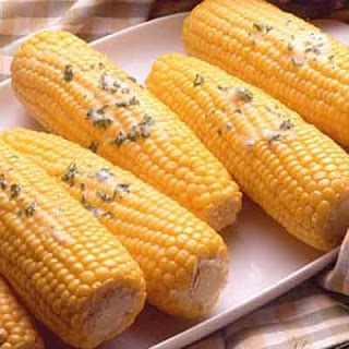 Corn-On-The-Cob With Seasoned Butters.