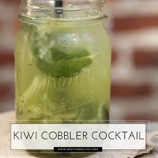 Kiwi Cobbler Cocktail.