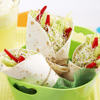 Crunchy Vegetable Wraps and Fizzy Citrus Floats