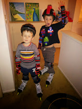 Photo: Brothers in New Skates