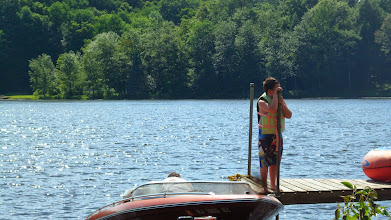 Photo: Ethan, waiting to spot me TUBING!